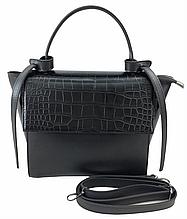 Сумка женская стильная от украинского производителя, черный цвет ( код: IBG229BB )