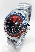 Мужские наручные часы Rolex (Ролекс), серебро с красным циферблатом ( код: IBW533SR )