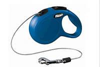 Поводок-рулетка Flexi New CLASSIC XS трос 3м до 8кг синій (TX-11772)