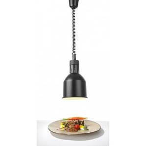Цилиндрическая лампа для подогрева блюд с регулируемой высотой  ø175x(H)250 мм. 230V / 250W черный