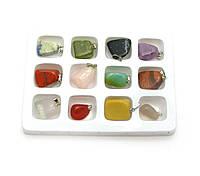 Кулон из камня (набор 12 шт)(12,5х9,5х1,5 см)