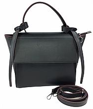 Сумка женская стильная от украинского производителя, цвет черный с красным ( код: IBG229BR )