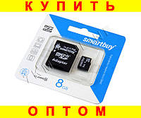 Карта памяти Smartbuy MicroSD 8Gb Class 10