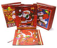 """Пакет подарочный """"Новый год""""  картон (12 шт/уп) (32х26 см)"""