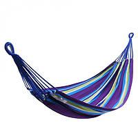 Гамак тканевый подвесной для сада, пикника, отдыха KingCamp Canvas Нammock (purple yellow)