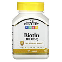 21st Century  Biotin 10,000 mcg  (120tab)