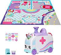 Скорая помощь - больница Кинди Кидс / Kindi Kids Hospital Corner - Unicorn Ambulance - Playmat Included, фото 1