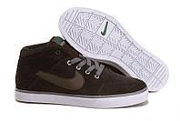 Кеды Nike Suketo Mid Leather FUR(зимние) коричневый