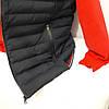 Жилет мужской синтепон тёмно-синий большие размеры четыре кармана, фото 3