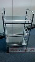 Столик  сервировочный на колесах этажерка