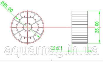 Свободноплавающая биозагрузка Aquamag 25 х 12 мм 100л для биофильтров, УЗВ, пруда, водоёма, фото 2