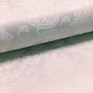 Ткань сатин с рисунком, дамаск крупный розовый (ТУРЦИЯ шир. 2,4 м) Отрез(1*2,4м)