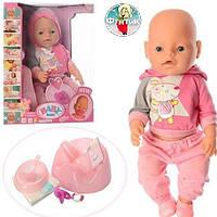 Пупсы бейби борн и долл (baby born & doll) интерактивный пупс с аксессуарами 8006-456