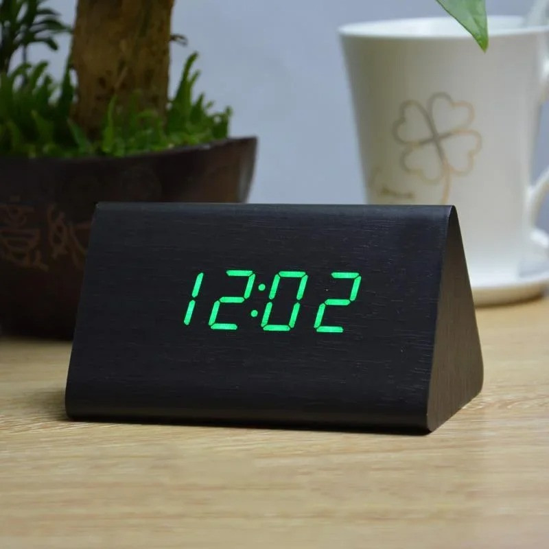 Часы VST-864-4 салатовые, температура, дата, будильник.