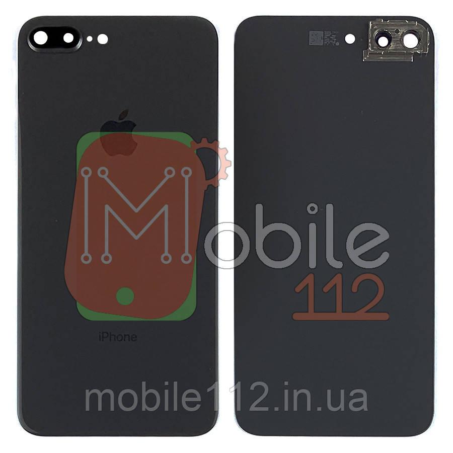 Задняя крышка Apple iPhone 8 Plus черный оригинал Китай со стеклом камеры