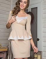 Платье с баской   2131 sk