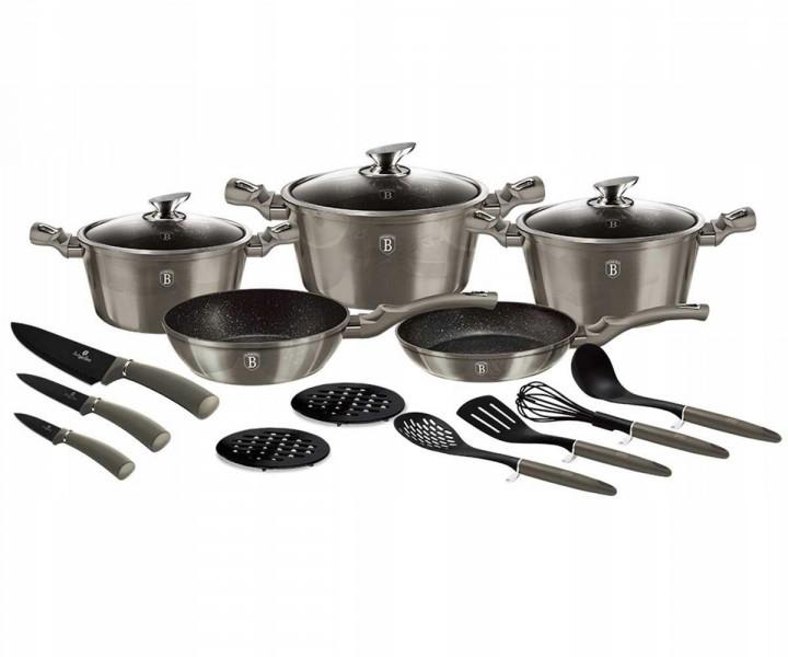 Набор кухонной посуды Berlinger Haus Carbon 17пр