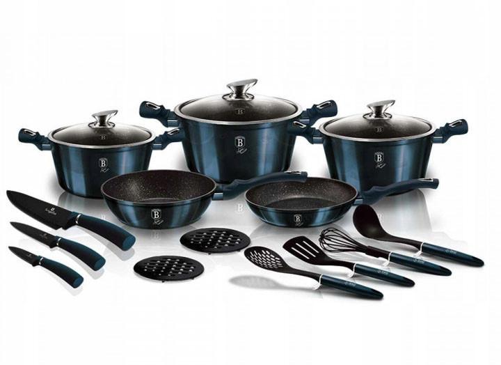 Набор посуды для приготовления Berlinger Haus Aquamarine 17пр