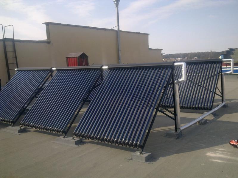 Солнечная водонагревательная система на 1000 литров (г. Николаев)