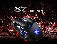 Игровая геймерская компьютерная мышь Gaming X7 Dark Knight с LED подсветкой + коврик для мыши в ПОДАРОК