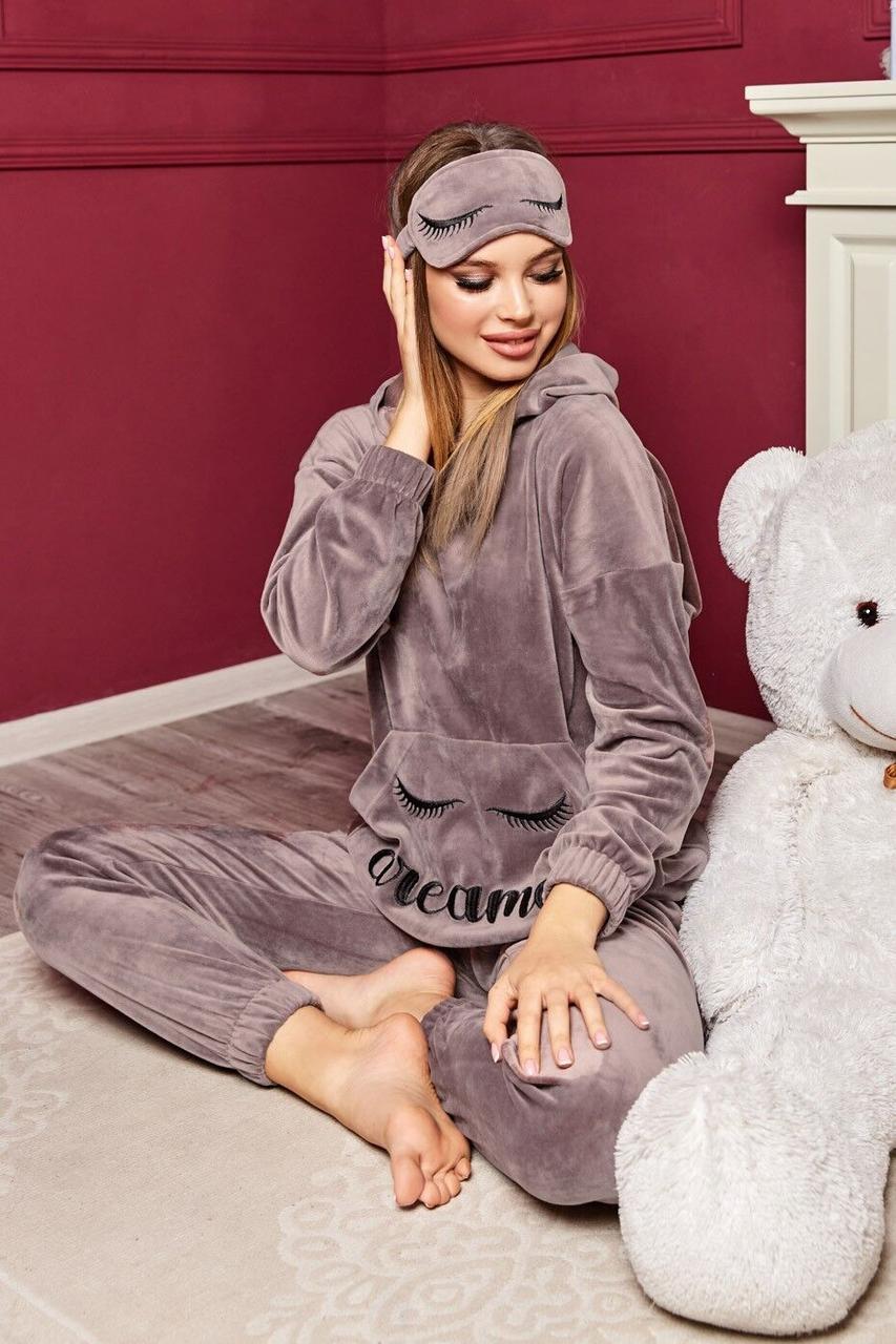 Пижама женская, цвет: сиреневый, размер: S-M, L-XL