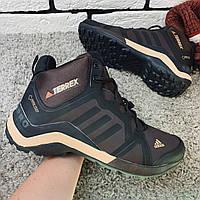 Кроссовки зимние Adidas TERREX мужские, коричневые ботинки адидас. Наличие размеров в описание