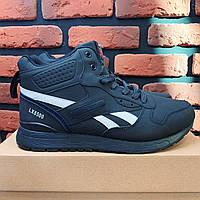 Зимние мужские кроссовки Reebok Clasic, Ботинки Рибок синие. Наличие размеров в описании