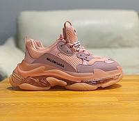 Кроссовки женские Balenciaga Triple S, розовые Баленсиага Трипл С. Наличие размеров в описании