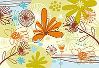 Фотообои 254x184 см Детский рисунок цветов (039P4)