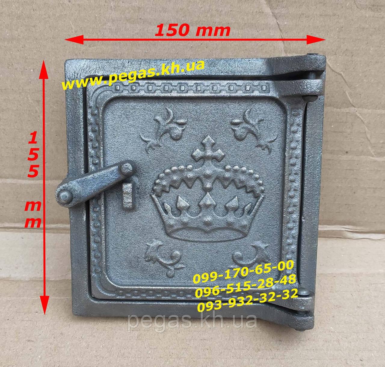 Дверцята чавунна люк для золи, сажотруска, сажечистка, печі, барбекю, мангали, грубу