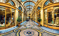 Фотообои 3D город 368х254 см Плаза в Милане (1010P8)