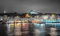 Фотообои 3D 368x254 см Ночной город, яркие цвета 10152P8