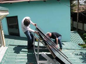 установка Abi-Solar на конструкции на крыше солнечной стороны