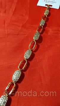 Ослепительный женский браслет с кристаллами. Родий Xuping браслет для женщин. 32