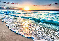 Фотообои 3D виниловые с блеском 416х290 см Волшебный закат и море (11040GWVZXXXXL)