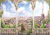 Фотообои 3D виниловые с блеском 312x219 см Арка в городе Париж (11417GWVZXXL)