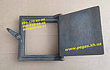 Дверца чугунная люк для золы, сажетруска, сажечистка, печи, барбекю, мангалы, грубу, фото 4