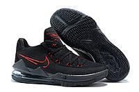 Мужские баскетбольные кроссовки Nike Lebron 17 Low Black/Red Реплика, фото 1