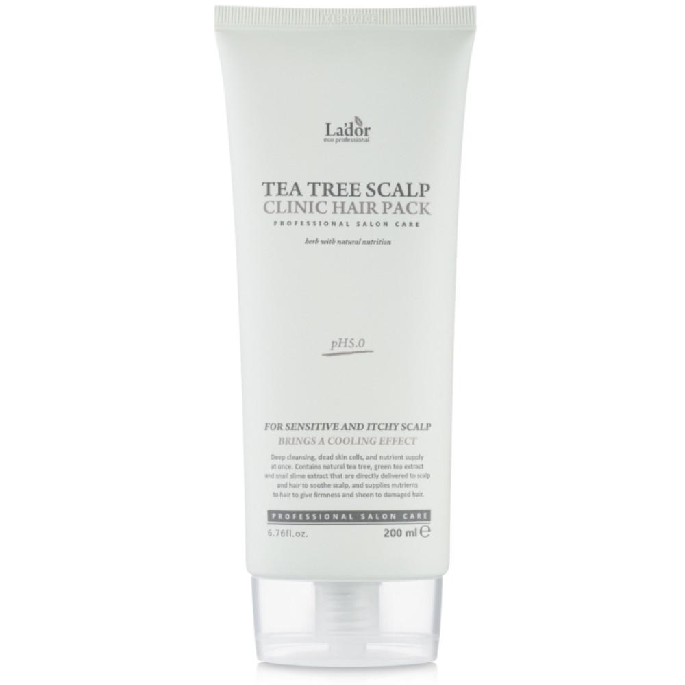 Восстанавливающая маска для волос и кожи головы La'dor Tea Tree Scalp Clinic Hair Pack 200 мл (8809500810681)
