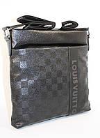 Сумка мужская, планшет Louis Vuitton 715 черный, 26*26.5*5 см