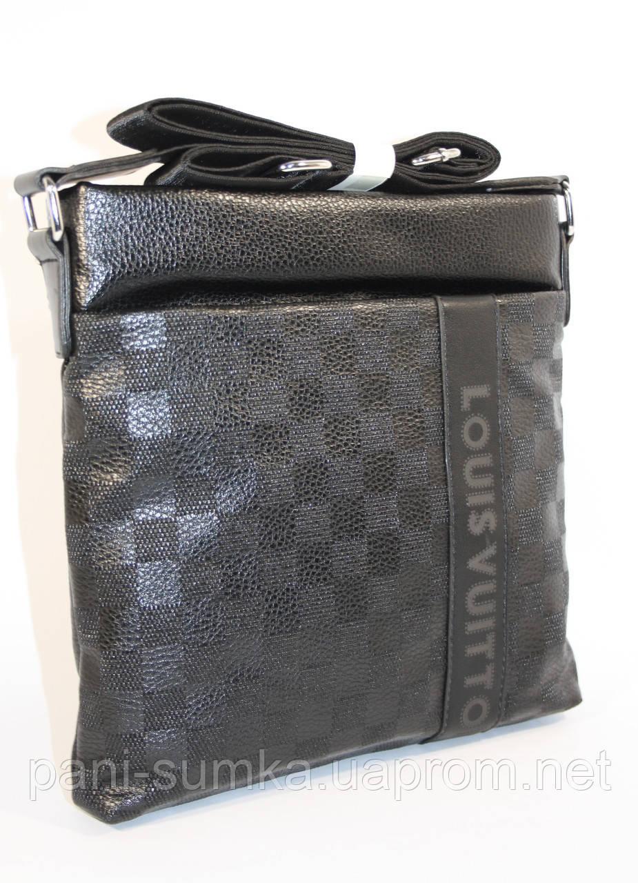 """Сумка мужская, планшет Louis Vuitton 715 черный, 26*26.5*5 см - Интернет магазин """"Pani Sumka"""" в Одесской области"""