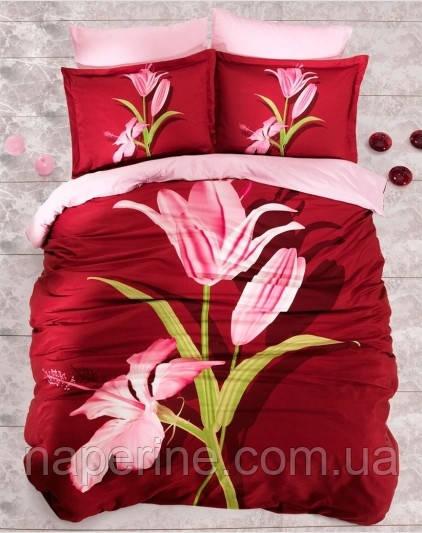 Постельное бельё сатин Altinbasak Glamour красный