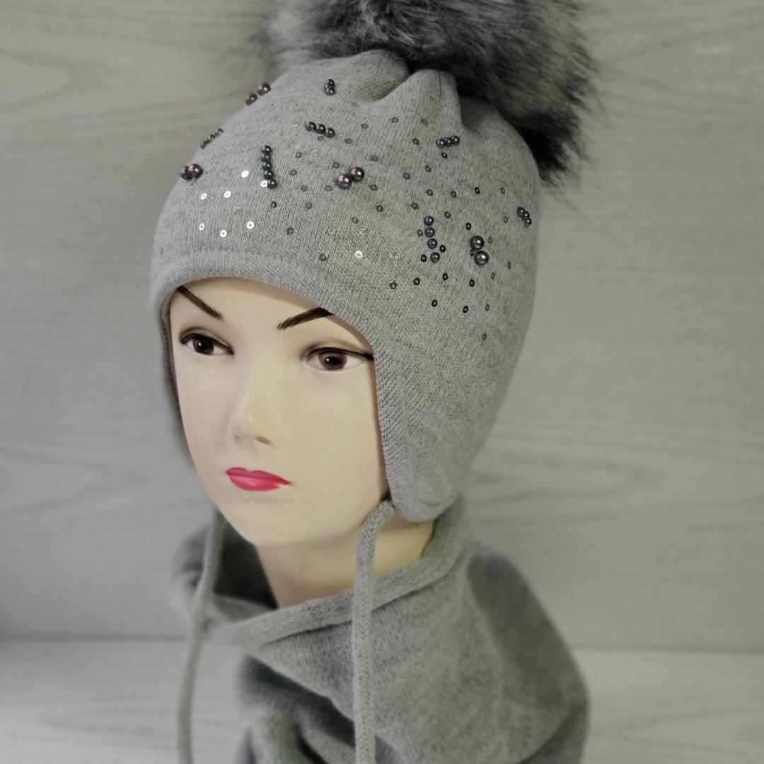 Комплект для девочик (шапка+хомут) Ambra G14 Размер 50-54 см Возраст 3-6 лет