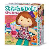 Набор для творчества 4M Шитье Кукла с кроликом (00-02765)