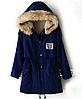 Куртка парка  женская (темно синий)