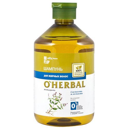 Шампунь для жирных волос 500 мл,O'Herbal