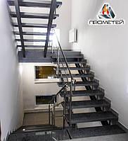 Перила с 2-мя ригелями для многоэтажных жилых зданий AISI 304, поручень Ø50 мм, стойка Ø42 мм, 3 ригеля Ø16 мм