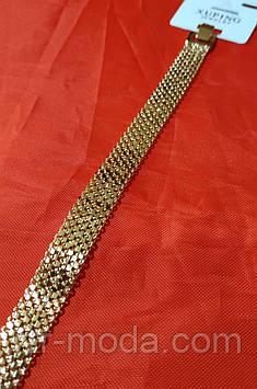 Брендовые широкие браслеты под золото, браслеты оптом в Украине. 1207