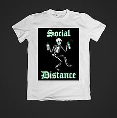 Футболка чоловіча з принтом Social distance