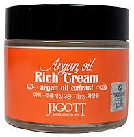 Питательный крем для лица с аргановым маслом Jigott Argan Oil Rich Cream 70 мл, фото 2